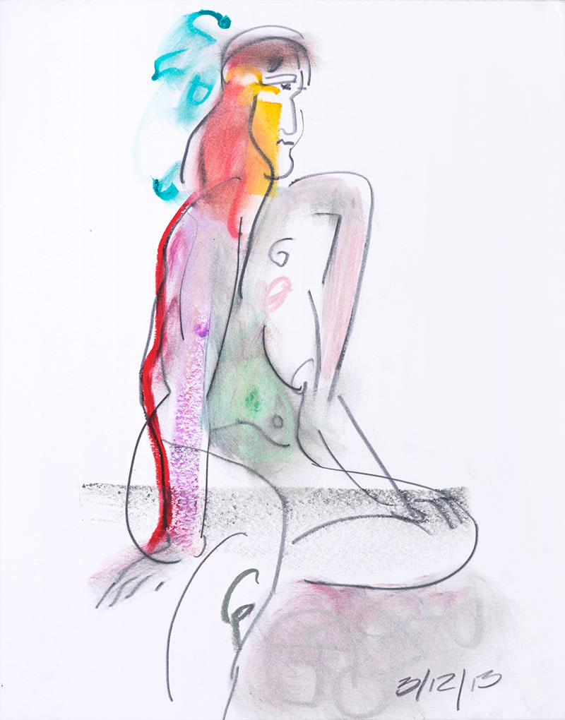 Figurative #2254, Mixed Media on Paper, 2013 © Dan Badgley. All rights reserved.