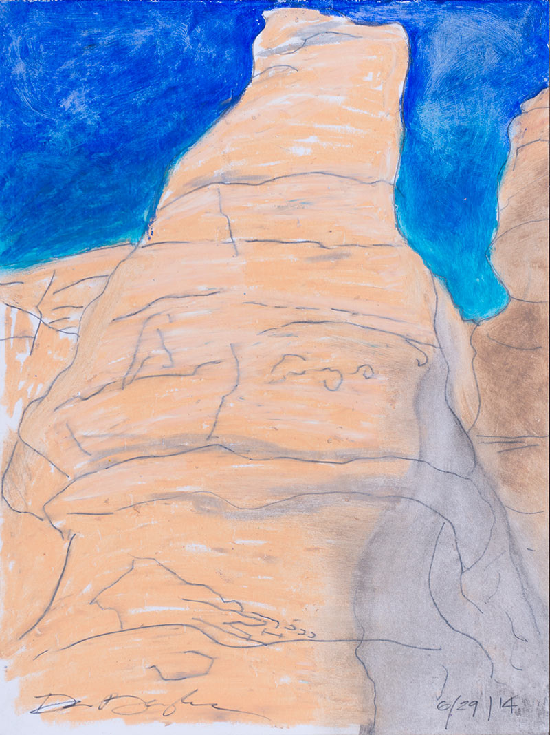 Abstract #___2, Graphite, Oil Pastel on Paper, 2014 © Dan Badgley. All rights reserved.