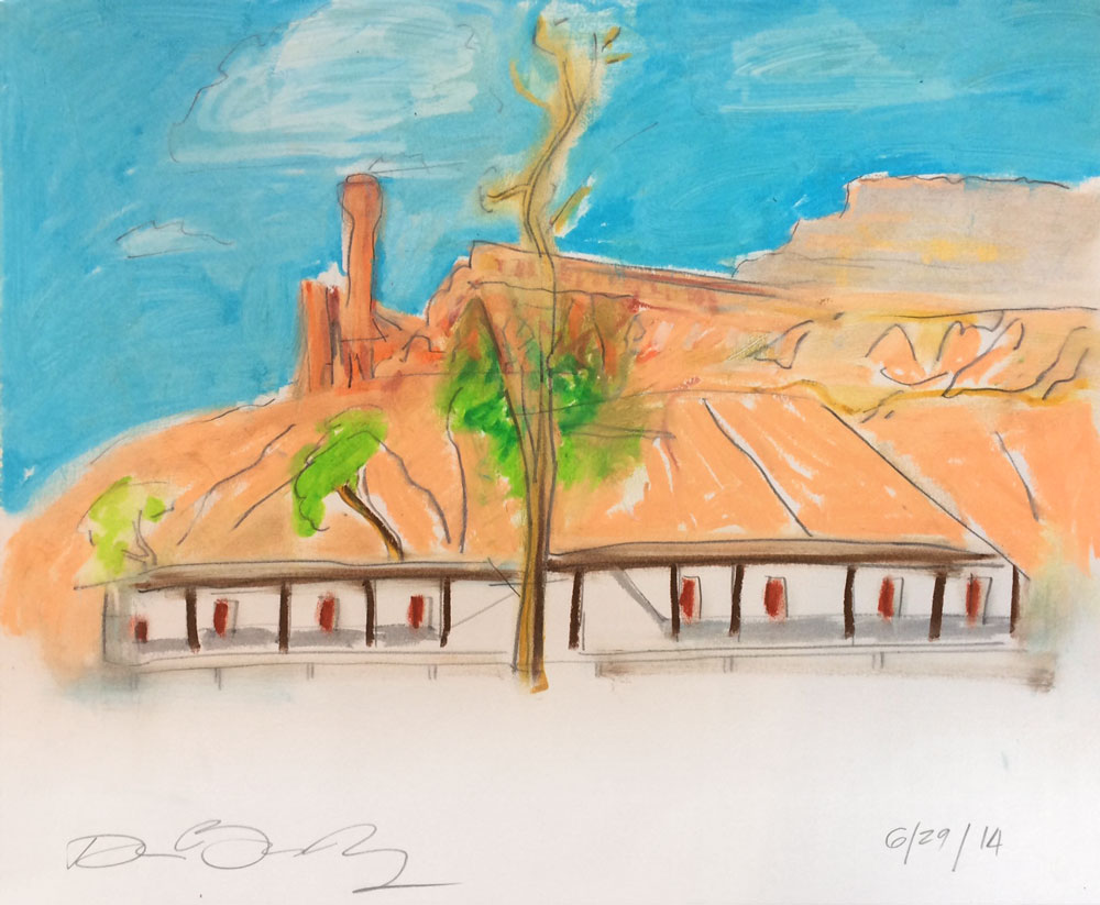 New Mexico #303, Graphite, Oil Pastel on Paper, 2014 © Dan Badgley. All rights reserved.