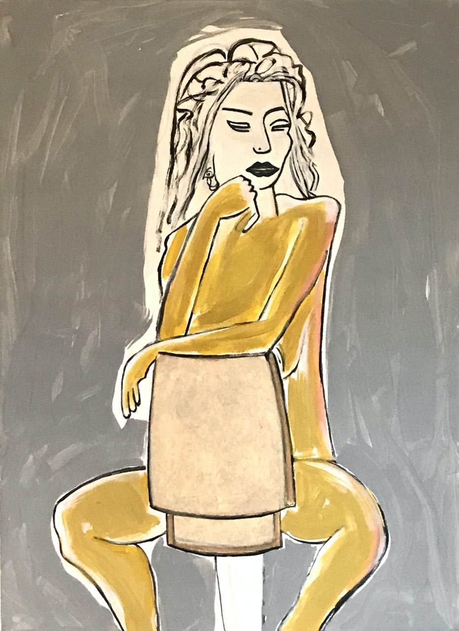 Figurative #274, Acrylic on Canvas, 1994 © Dan Badgley. All rights reserved.