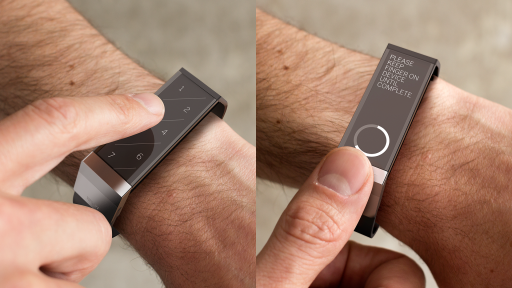 "The ""Token"" is a Wrist mounted digital Wallet Prototype"