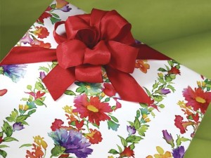 Floral Printed Gift Wrap