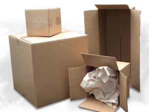 Corrugated mailing and shipping boxes