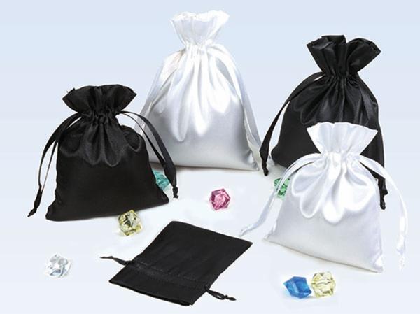 Satin drawstring pouches