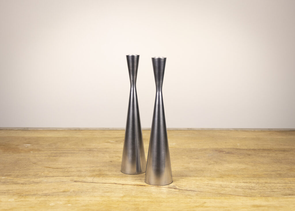 Pair of Hourglass Candlesticks (Travel Together)