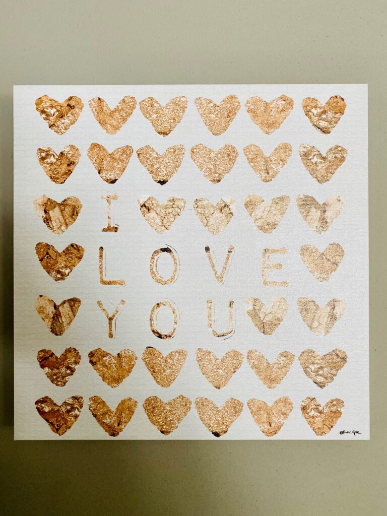 """I Love You Sign (14""""x14"""")"""