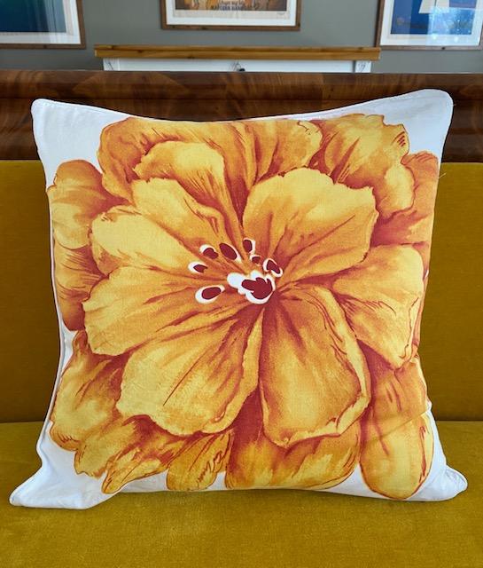 Orange Flower Pillows (Qty 2)