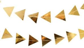Gold Triangle Garland