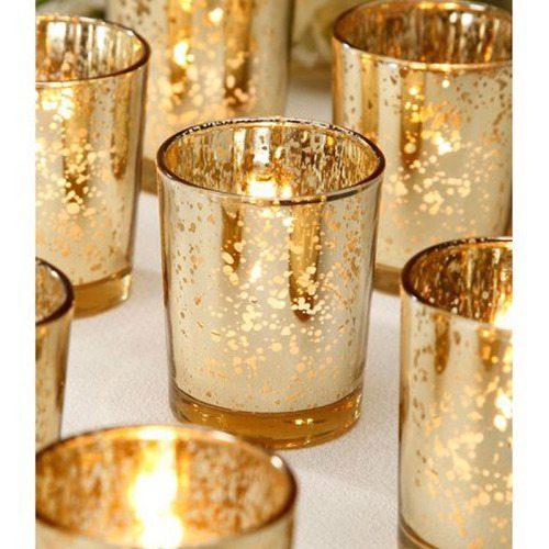 Mercury Glass Votives (2 dozen)