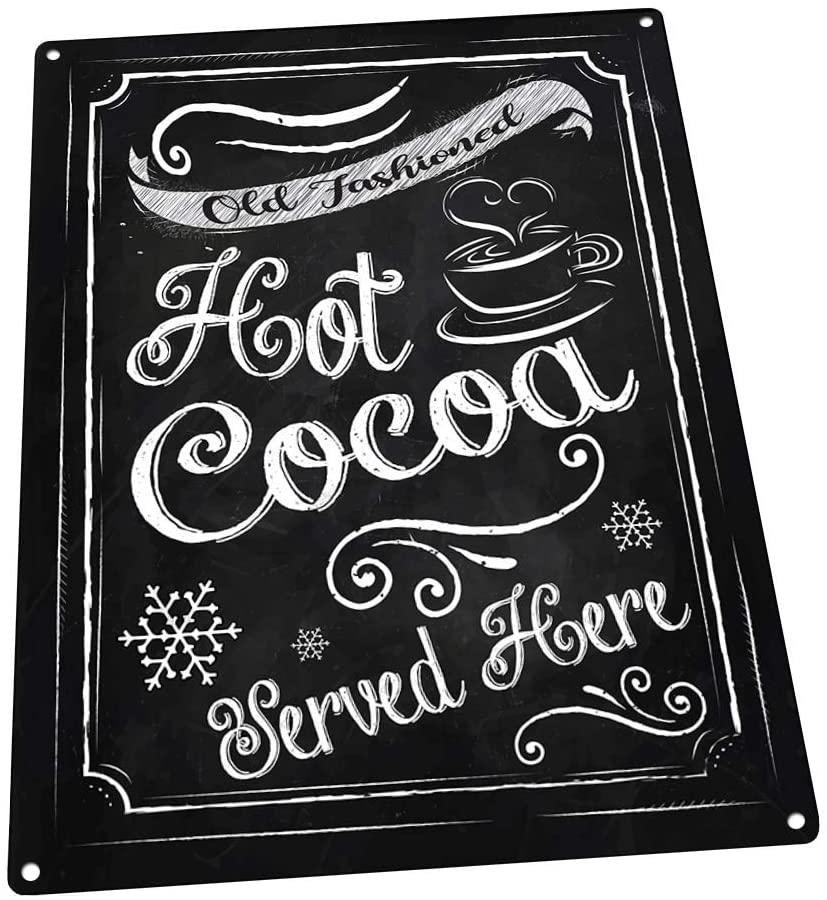 "Hot Cocoa Tin Sign (12""x16"")"