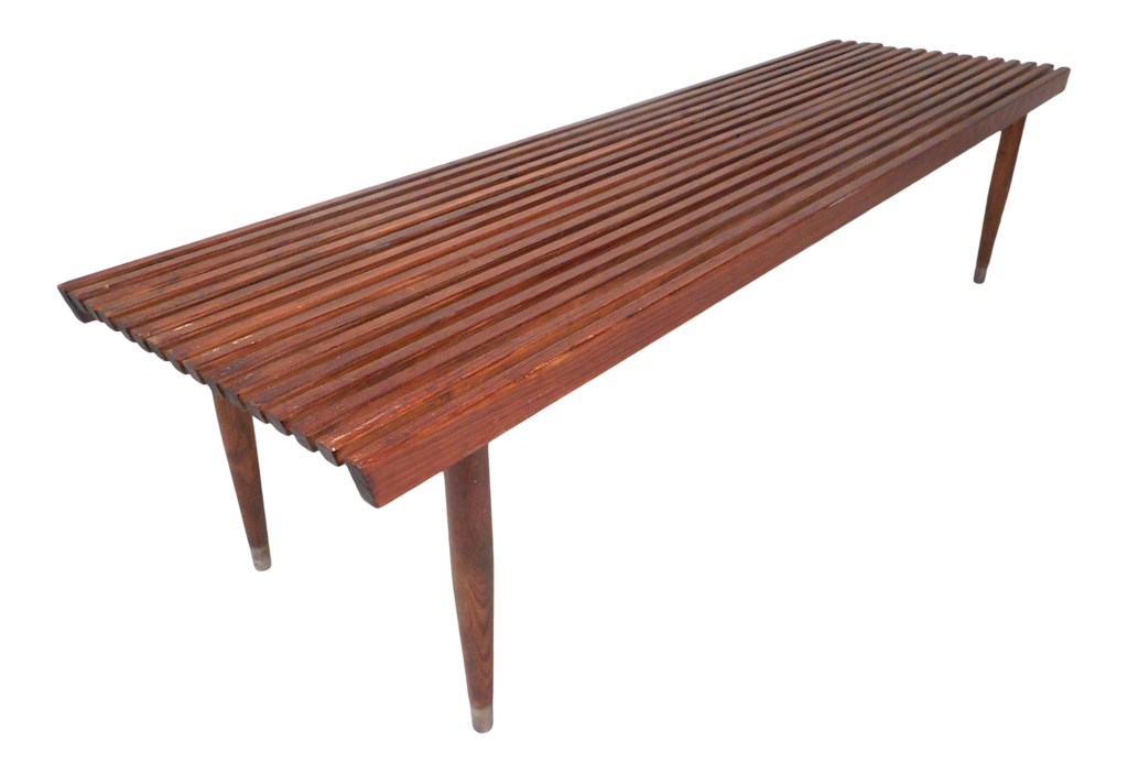 Mid Century Slated Bench