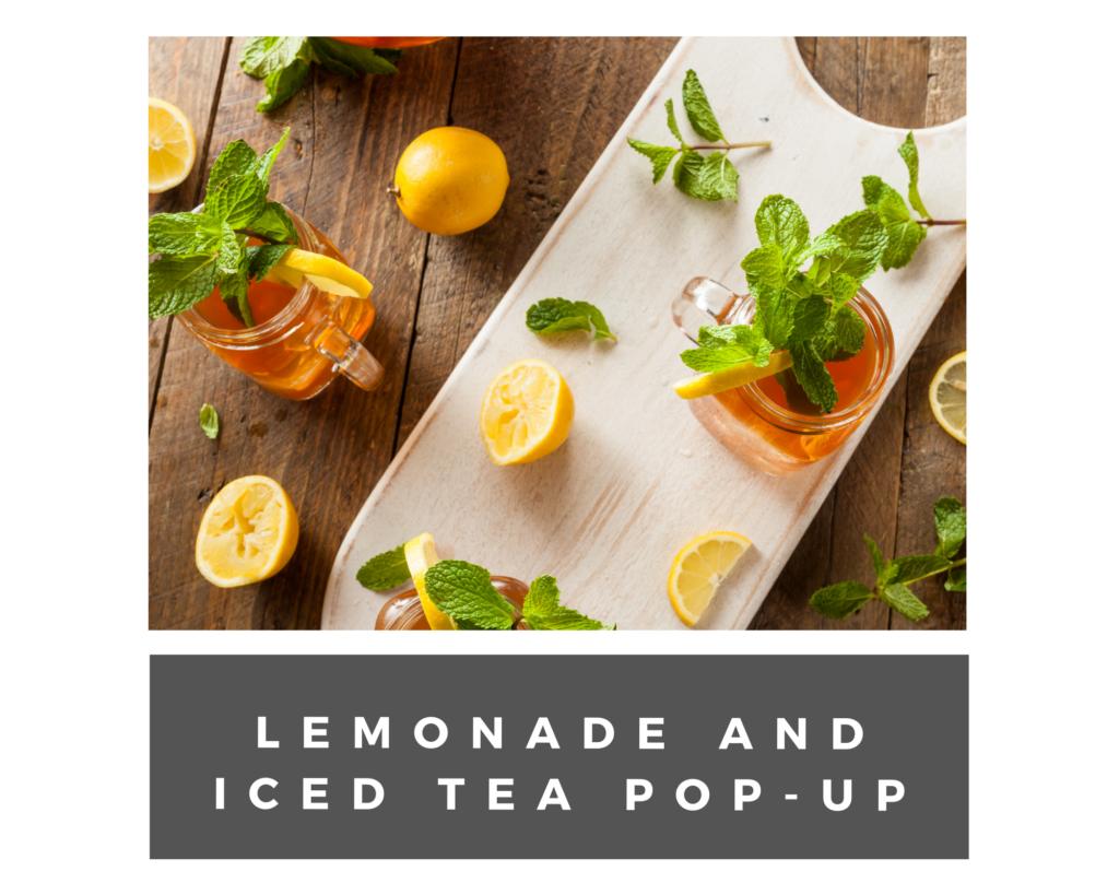 lemonade and iced tea