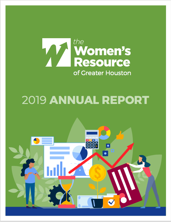 the women's resource 2019 annual report financial empowerment women's financial report nonprofit information