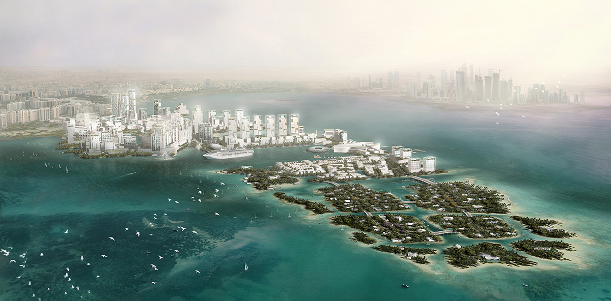 02-Doha Masterplan-aerial