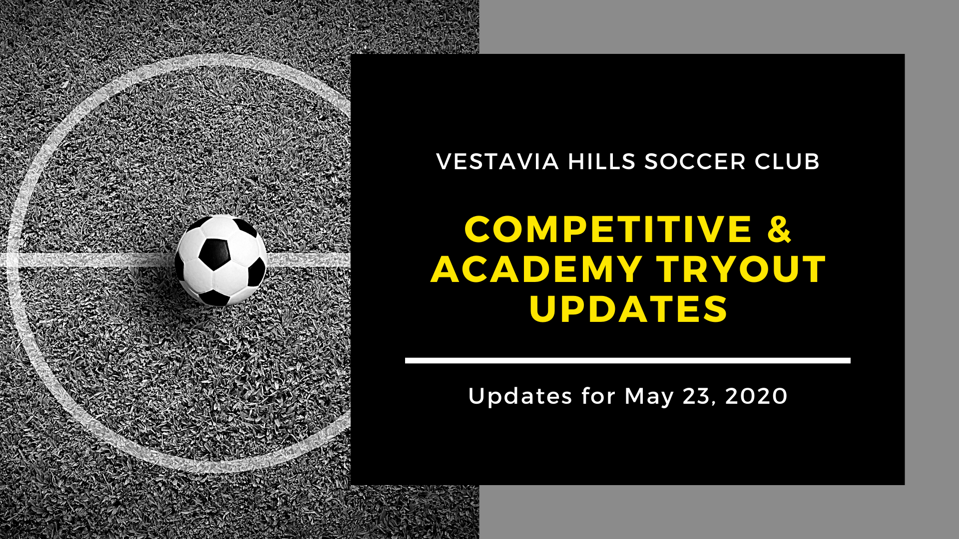 VHSC Tryout Updates May 23, 2020