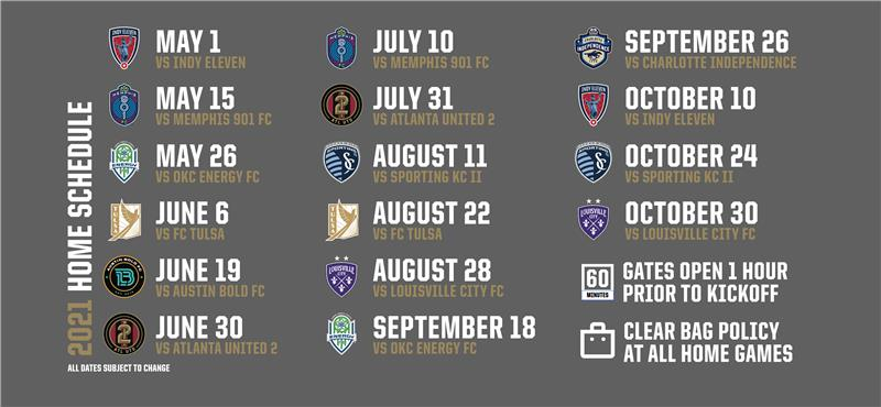 2021 LFC Home Schedule