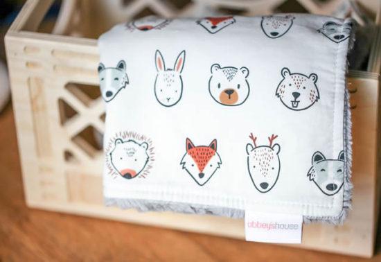 woodland animals blanket