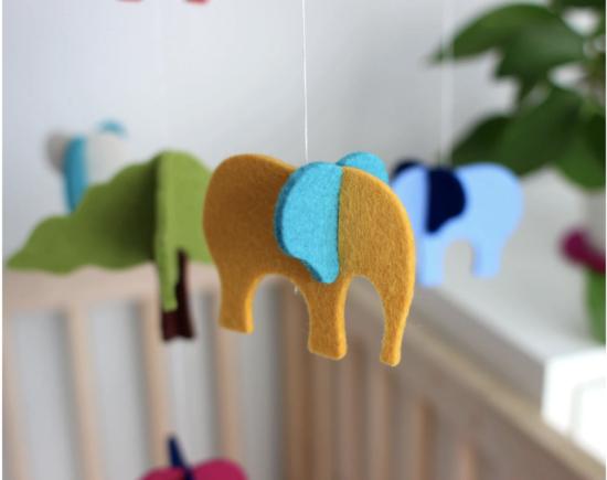 baby mobile elephant