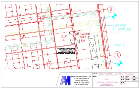amc cad drawing Interstitial space access Equinix