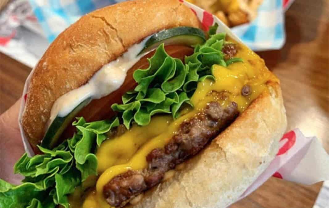 Burger from Monty's Good Burger