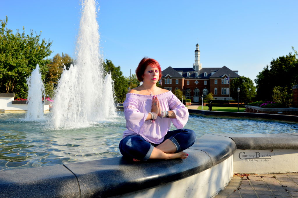 Meditation picture by Courtney Brooks of Karmen Fink, Heart's Joy in Carmel, IN