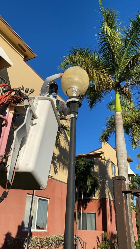 Parking Lot Light Repair