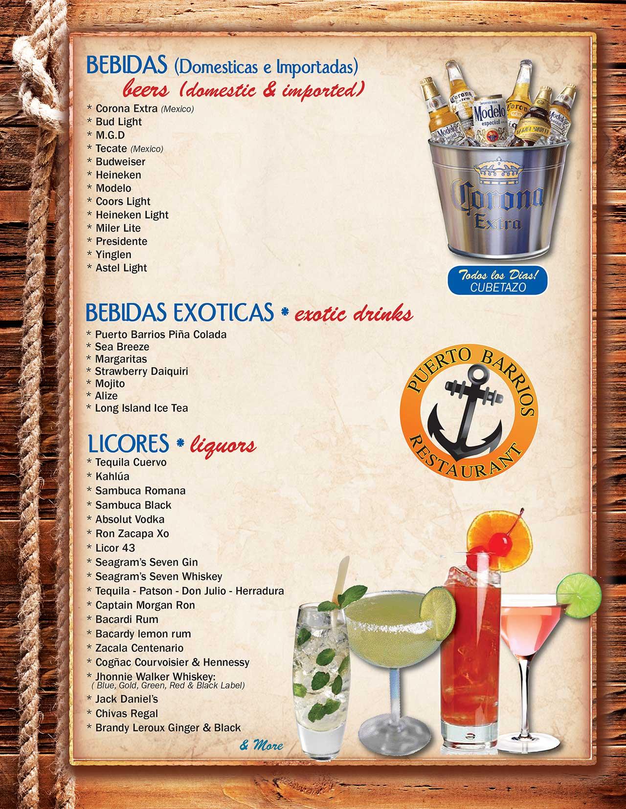 Puerto Barrios Menu Page 5