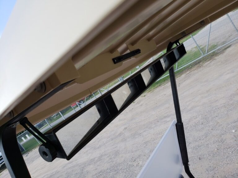 Five Panel Rear View Mirror on Golf Cart