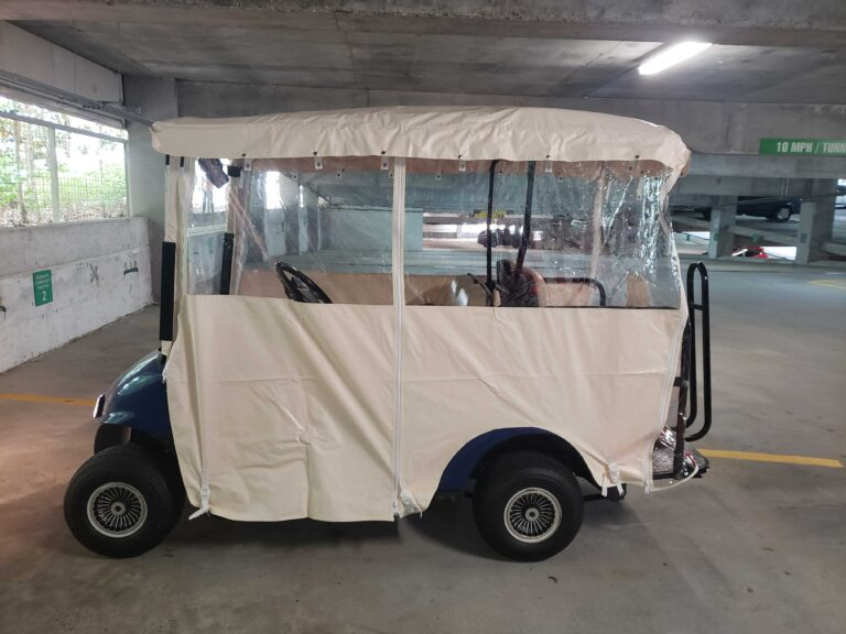 Golf Cart with Weather Enclosure