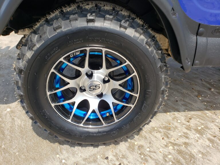 Golf Cart Wheel with Blue Accent