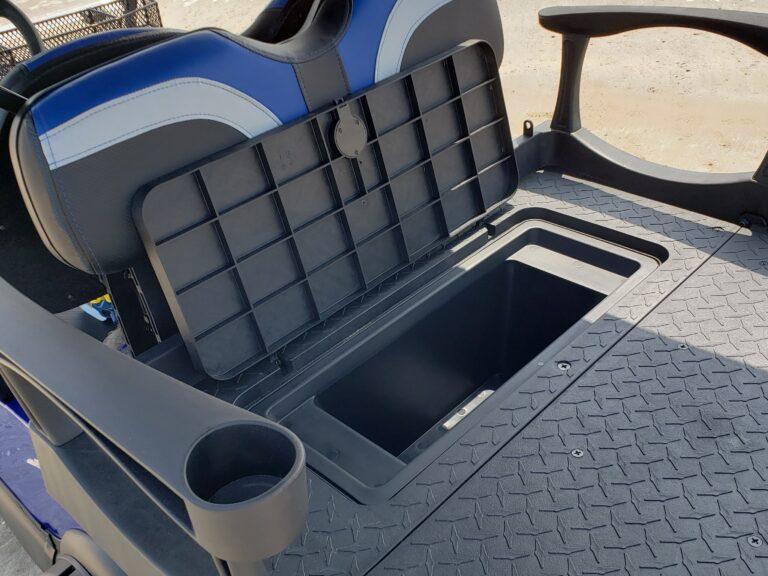 Rear Flip Kit with Storage Box on Golf Cart