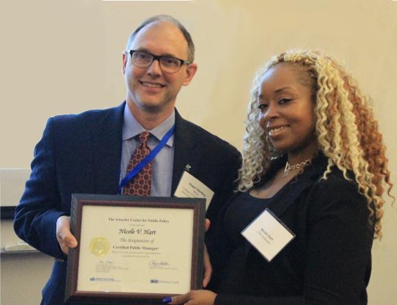 Nicole Hart Receiving Diploma