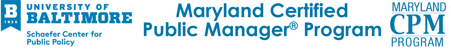 Maryland Certified Public Manager® Program Logo