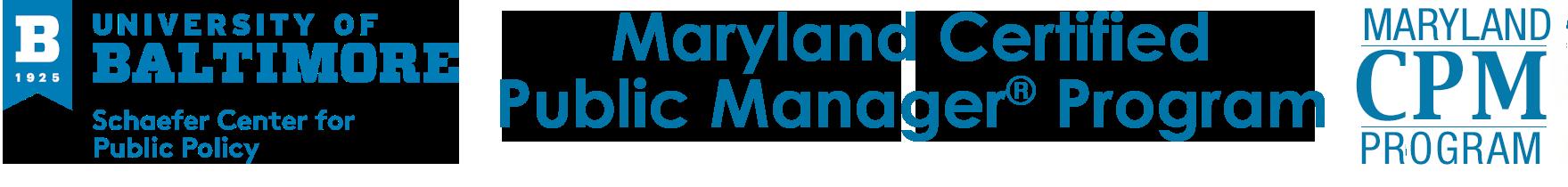 Maryland Certified Public Manager® Program Logo