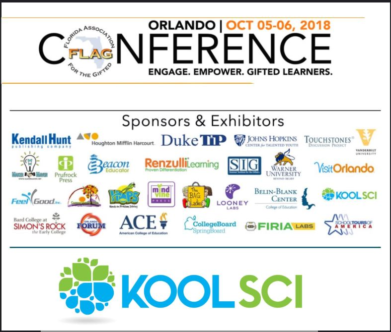 "KoolSci Sponsoring the ""Florida Association for the Gifted"" Conference Oct 5-6 2018"