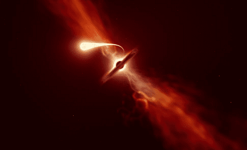 Black Hole Kills Star by 'Spaghettification' As Telescopes Watch