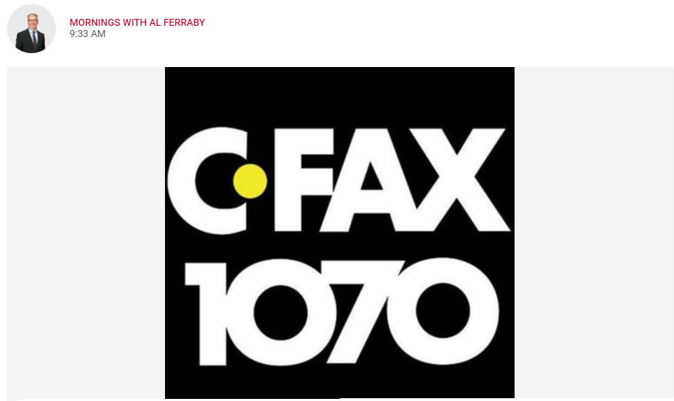 CFAX Radio Replay: One in Four Vancouver Island Residents Suffering with Mental Health Issues