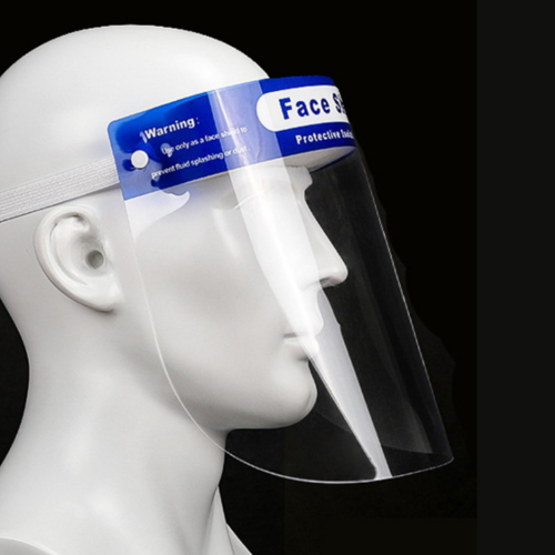 Personal Protective Equipment (PPE), plastic face shield