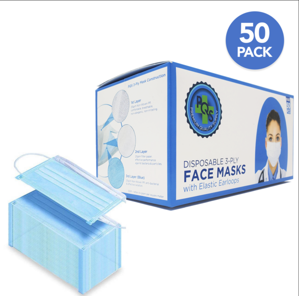 Premium surgical face mask box and mask