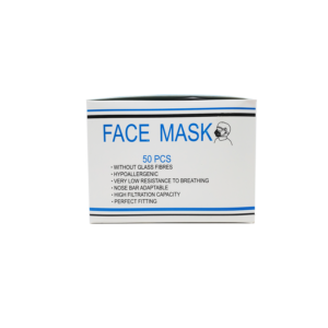 Side image of disposable surgical mask