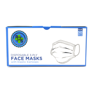 front of pqs surgical mask box