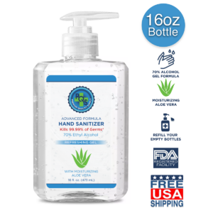 PQS 16 OZ Sanitizer WIth Pump