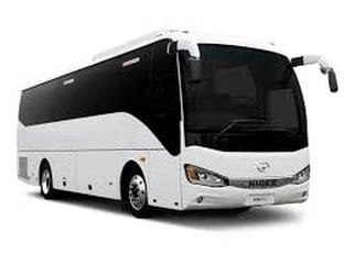 flybus coach hire fleet 55 seater coach white color