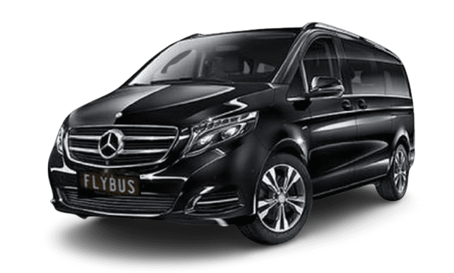 flybus bus hire fleet mercedes v-class 7 seater minivan