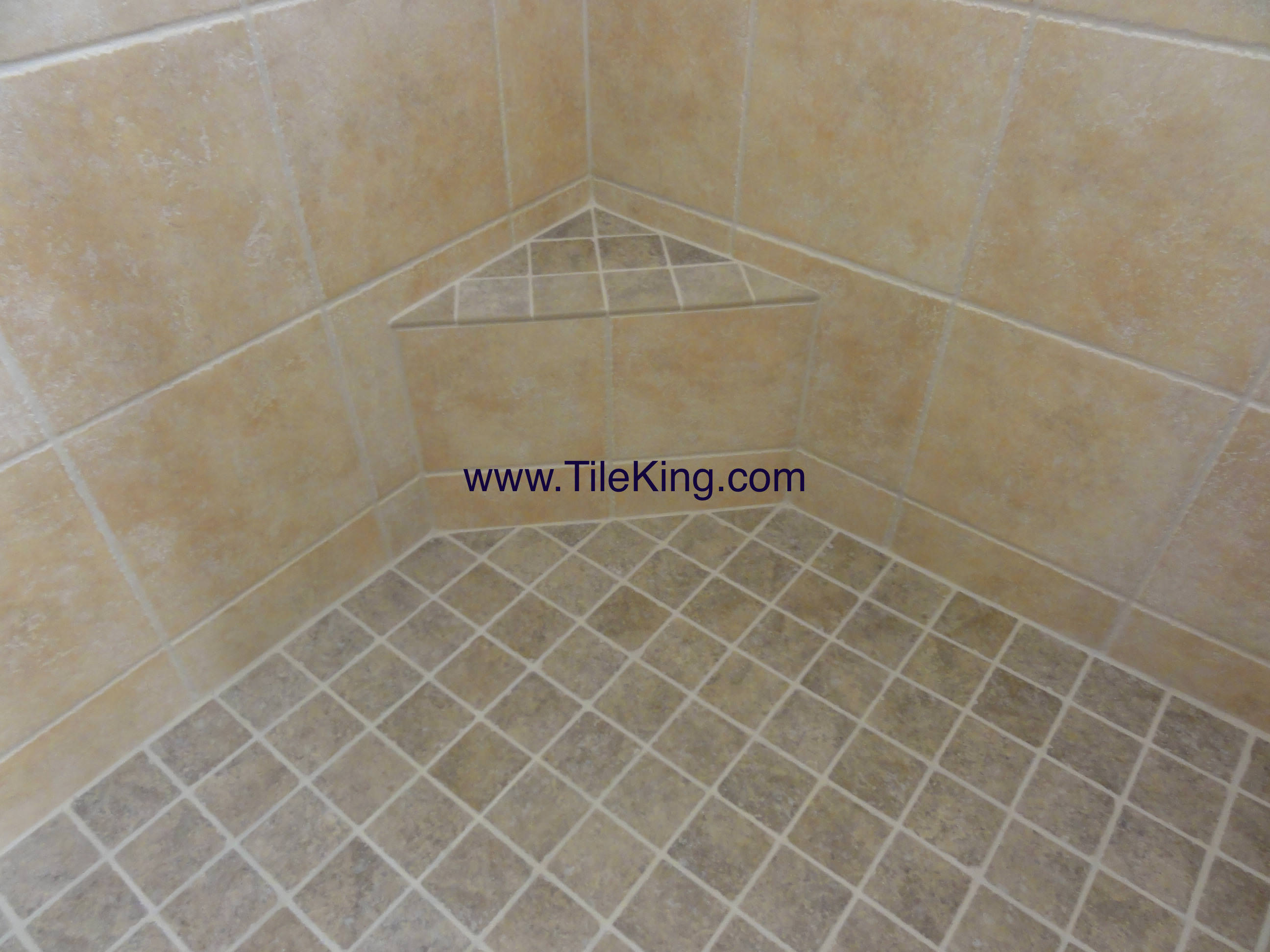 Travertine Shower After Cleaning & Sealing