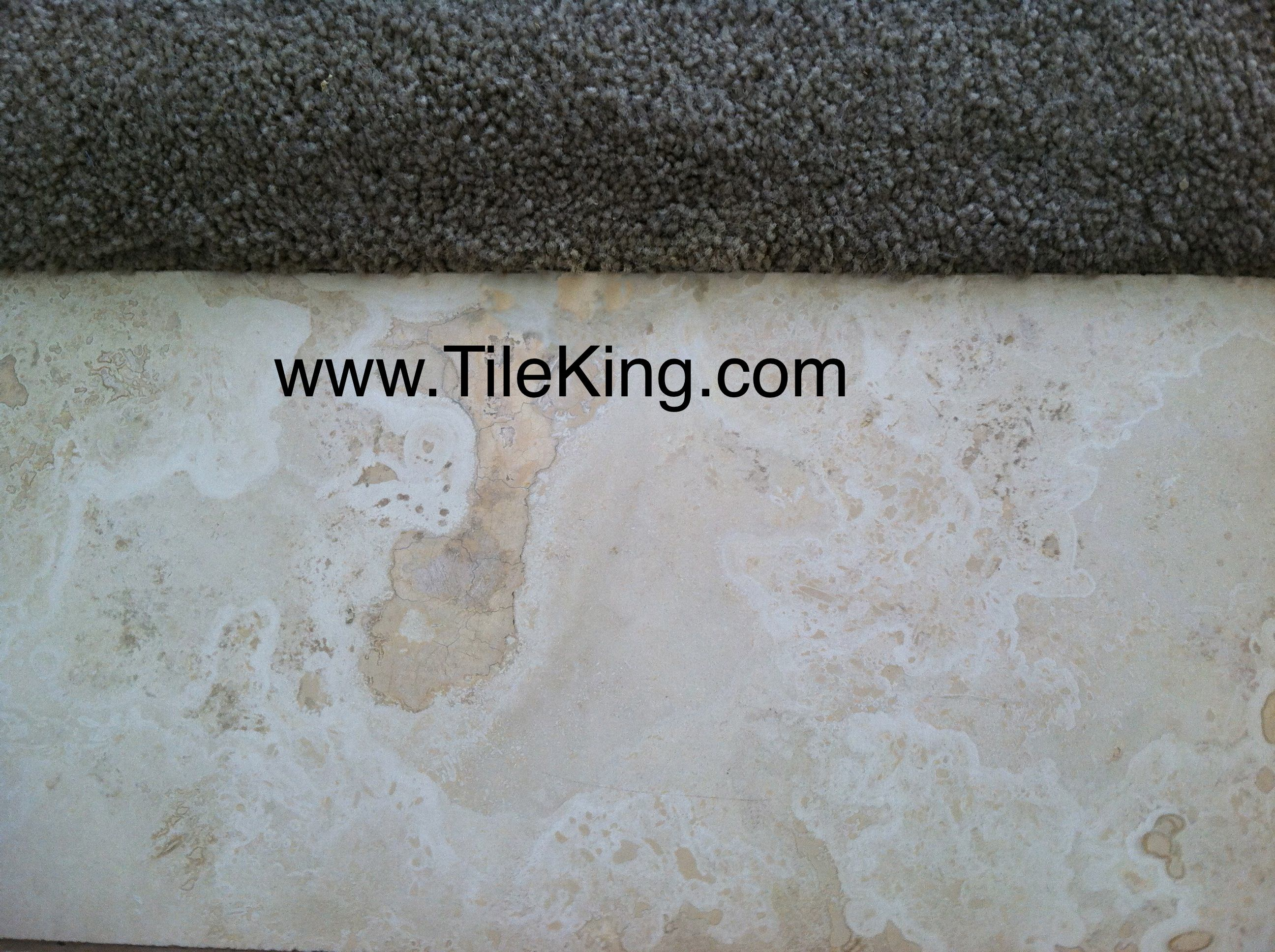 travertine cracked and broken after repairs