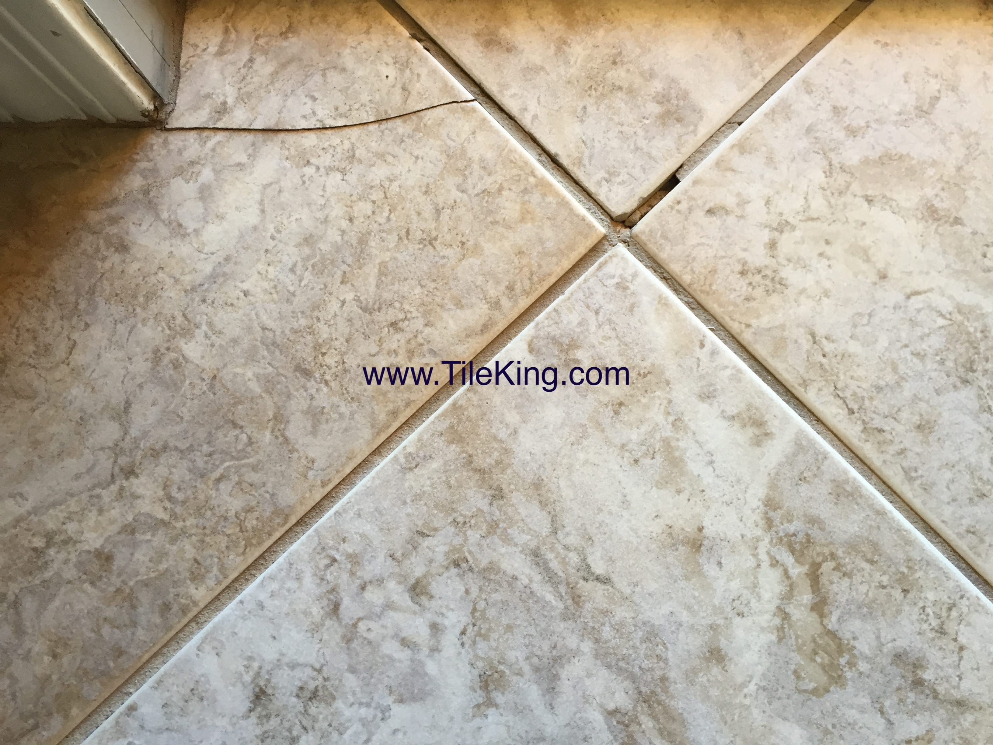 travertine crack before repair