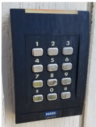 Image of a Keypad-Card Reader