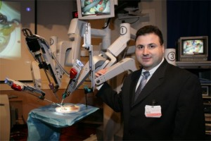 Dr. Domenico Savatta with robotic surgery da Vinci