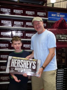 Mike and Harrison at Hershey